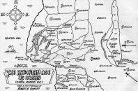 Robert E. Howard's initial sketch of Hyboria